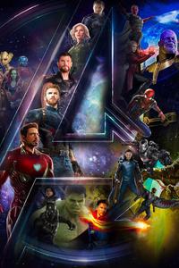 1125x2436 Avengers Infinty War 2018 HD