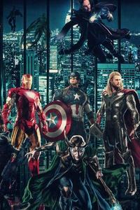 1125x2436 Avengers Infinty War 2018 Superheroes