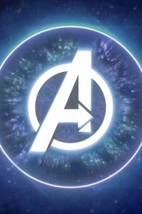 1080x2160 Avengers Logo 4k