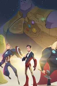 1080x2160 Avengers Minimal Artwork