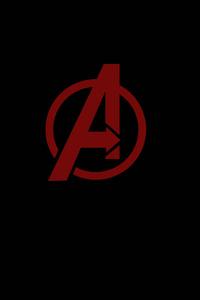 1080x2160 Avengers Minimal Logo