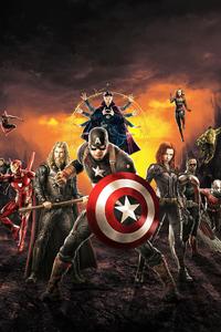 1280x2120 Avengers Poster 4k