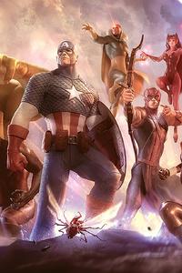 Avengers Sketch Artwork 4k