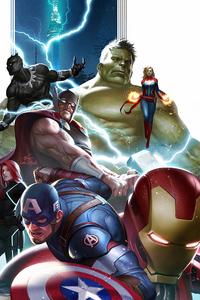 1080x2160 Avengers Team