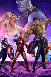 1080x2160 Avengers Together