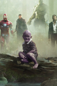 Avengers Vs Kid Thanos