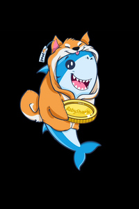 640x1136 Baby Doge And Baby Shark Crypto Currency