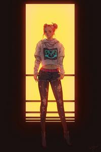 Baby Girl Cyberpunk