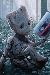 1440x2960 Baby Groot 2020