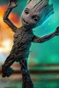 2160x3840 Baby Groot 4k 2018