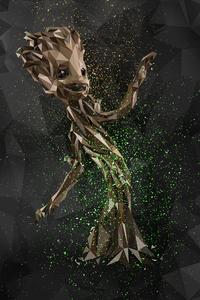 Baby Groot Abstract Digital Art