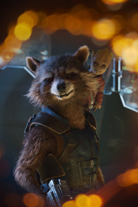 Baby Groot And Rocket 4k Guardians Of Galaxy 2