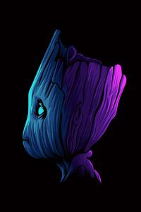 1440x2560 Baby Groot Minimal Art