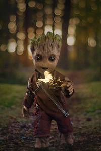 1440x2560 Baby Groot2019