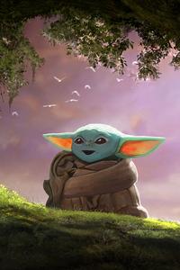 Baby Yoda Fanart 4k