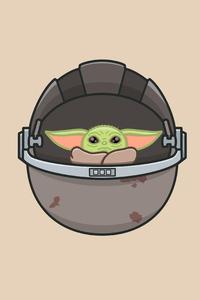 320x480 Baby Yoda Minimal 4k