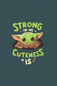Baby Yoda Minimalism