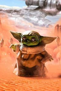 Baby Yoda Strange Baby 5k