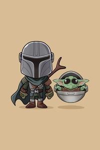 Baby Yoda The Mandalorian Minimalist