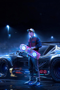 Back To The Future DeLorean Marty McFly