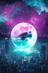 750x1334 Back To The Future Delorean Poster 5k