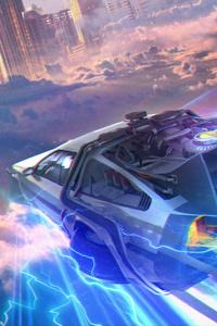 1080x1920 Back To The Future DMC DeLorean Artwork