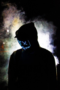 Backlit Mask Hoodie Guy 5k