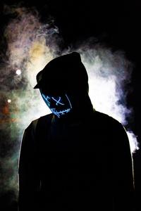 360x640 Backlit Mask Hoodie Guy 5k