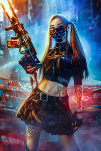 1080x1920 Bad Cyber Girl 4k