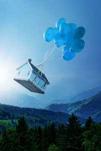 1080x1920 Balloon Floating House 5k
