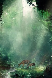 1242x2688 Bambi Jungle