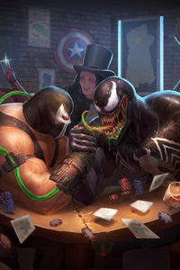 2160x3840 Bane Vs Venom