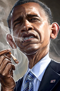 1080x2280 Barack Obama Smoking 5k
