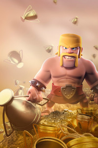 240x400 Barbarian Clash Of Clans HD