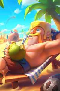 480x800 Barbarian King Clash Royale 4k