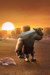 240x400 Barbarians Clash Of Clans