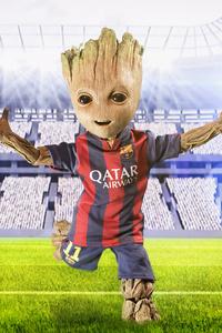 2160x3840 Barcelona New No 10 Baby Groot