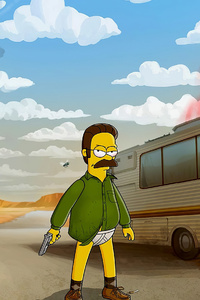 480x800 Bart And Heisenberg Simpson 4k