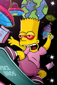 Bart Simpson Got High 5k