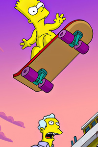 320x568 Bart Simpsons 4k