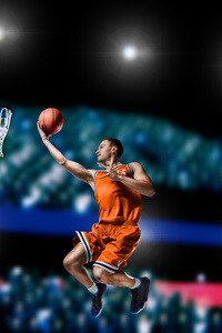 1080x1920 Basketball Player Shooting
