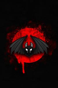 Bat Bird Minimal Red Black 4k