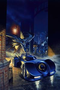 1242x2688 Bat Getting In Batmobile