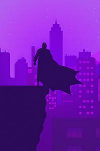 320x480 Bat Man Gotham Neon