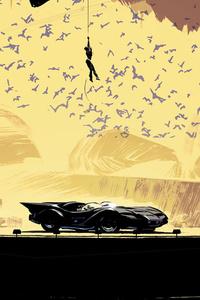 480x800 Batcave Catwoman DC Comics Artwork