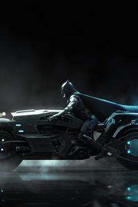 640x960 Batfleck Batcycle 4k