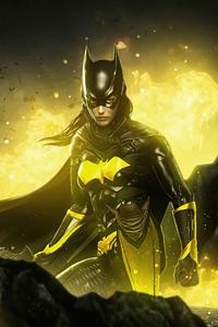1125x2436 Batgirl Gold Knight 5k