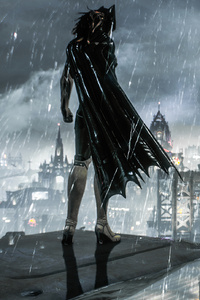 750x1334 Batgirl In Batman Arkham Knight 4k