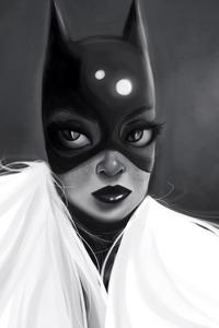 Batgirl Monochrome Art 5k