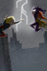 Batgirl Vs Supergirl Fight 5k